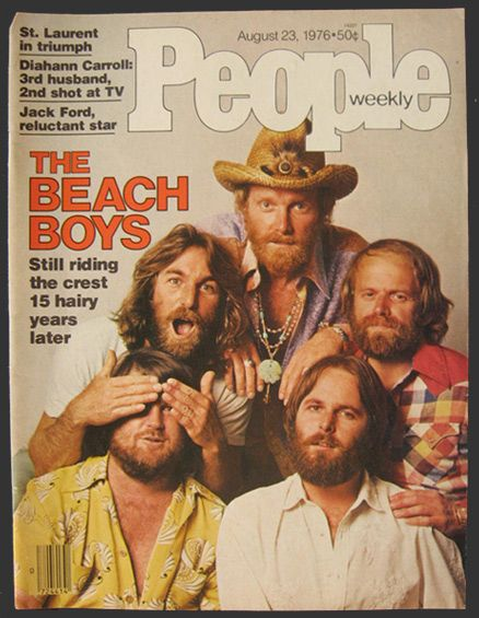 This is the original cover of People Magazine dated August 23, 1976, featuring The Beach Boys. Description from atticpaper.com. I searched for this on bing.com/images