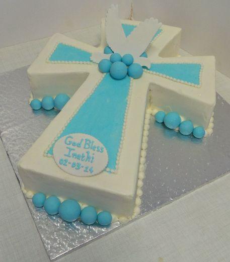 Fondant Cake Design For Christening