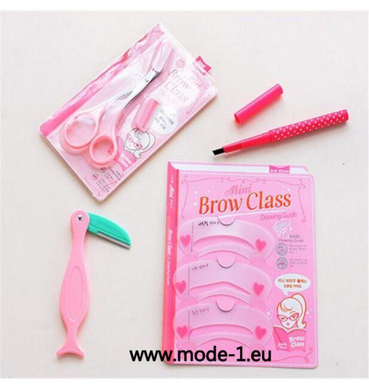 4Pcs Augenbraun Werkzeug /Augenbraue Rasieren /Trimmer /Enhancer /Schablone Make Up Tool mit Stift