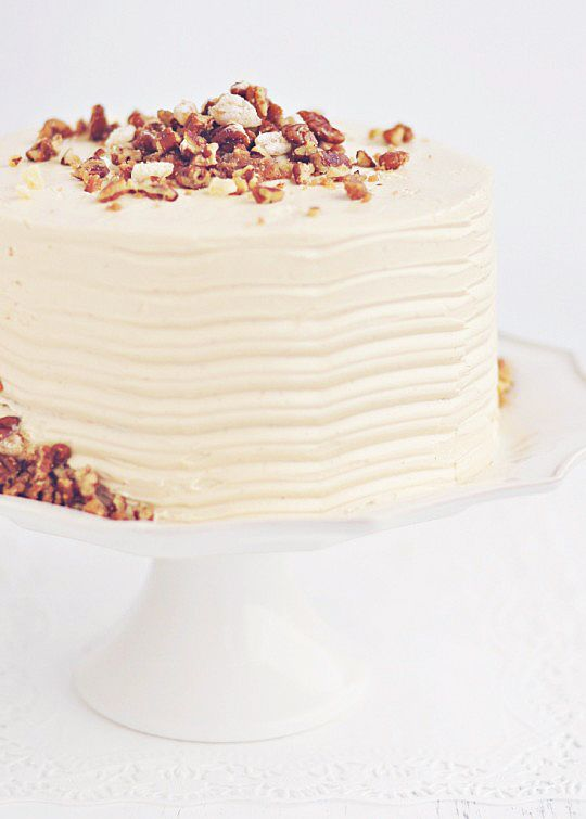 sweet potato & ginger layer cake with toasted marshmallOw filling ...