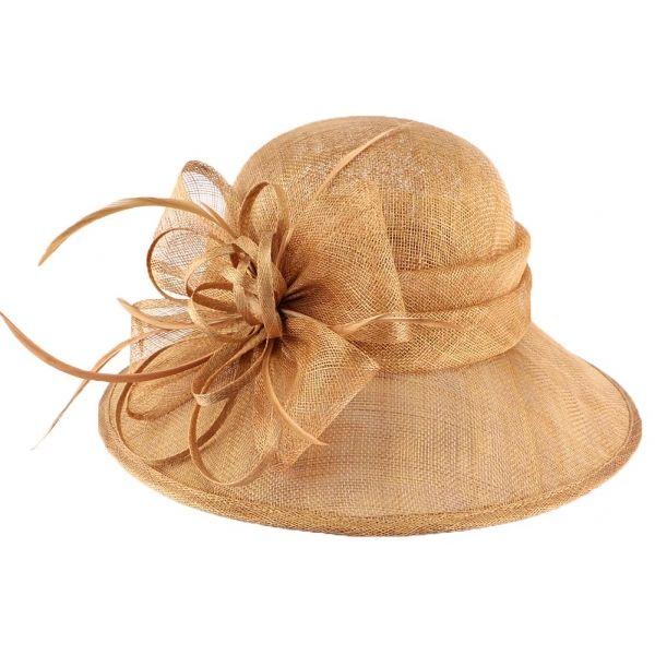 Chapeau Mariage Marron en paille sisal Thing #chapeaumariage #mariage #chic #mode #fahion #bonplan #startup