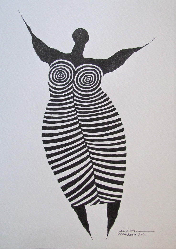 Åse Margrethe Hansen. Ink drawing, 2012