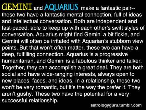 The Astrology Guru - Gemini compatibility with Aquarius