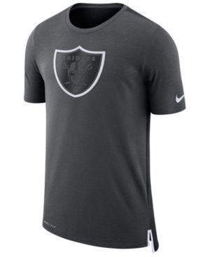 Nike Men's Oakland Raiders Travel Mesh T-Shirt - Silver