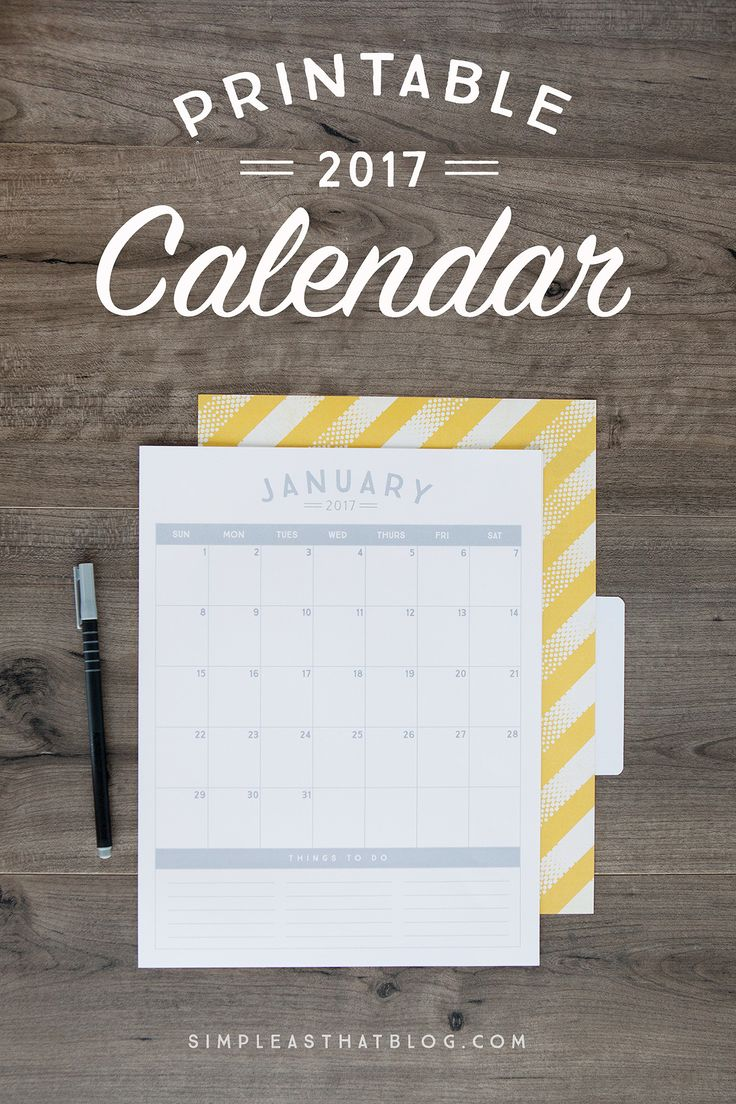 >> Click here to download Free Printable 2017 CALENDAR << Get the 2017 Calendar Color Set Our 2017 Printable Calendar is also available in 6 gorgeous colors – Grey, Coral, Lime, Poppy, Turquoise and Plum. Use the button below and for just $2.50, you can have access to ALL 6 COLORS in printable PDF format. Getting organized …