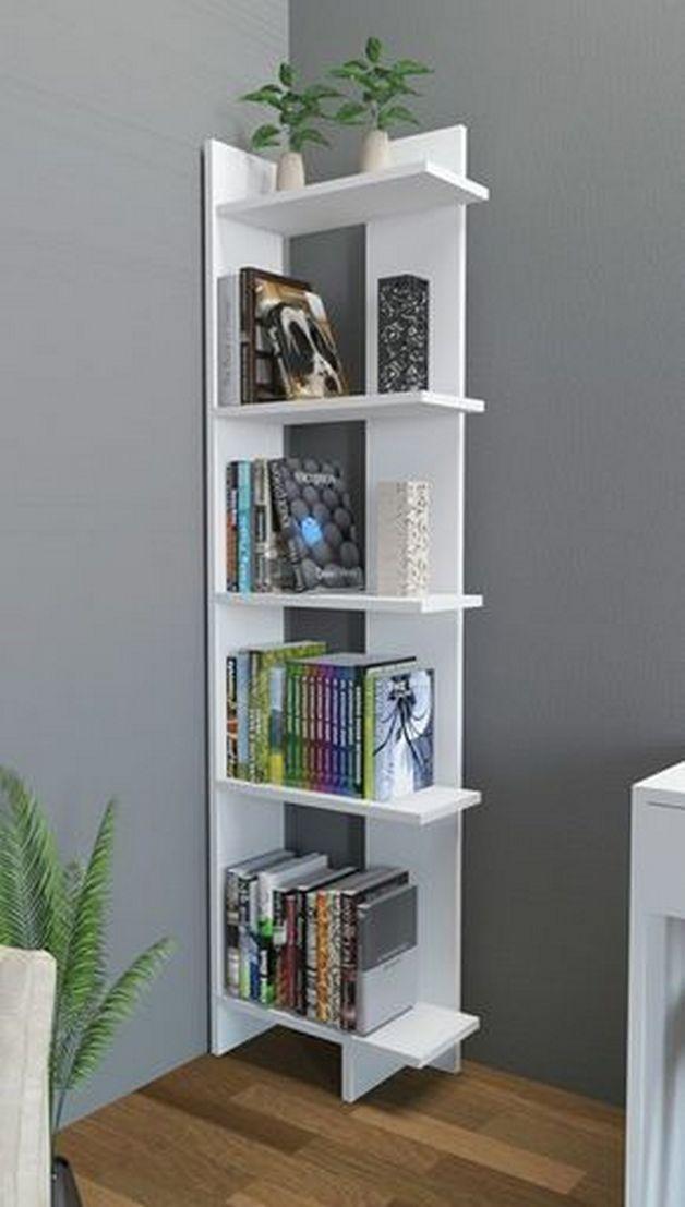 36 Design Models Corner Shelves Very Convenient 24 Top Home Design In 2020 Bookcase Decor Decor Bookshelf Design
