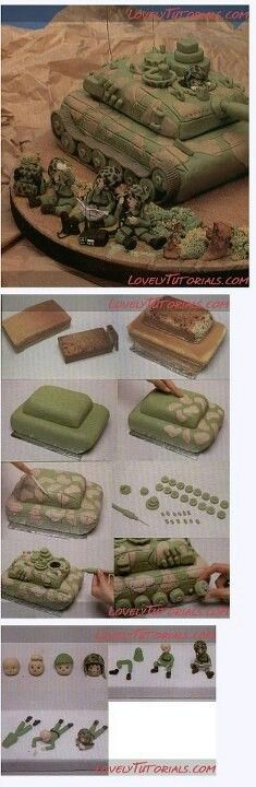 Tank cake - For all your cake decorating supplies, please visit craftcompany.co.uk