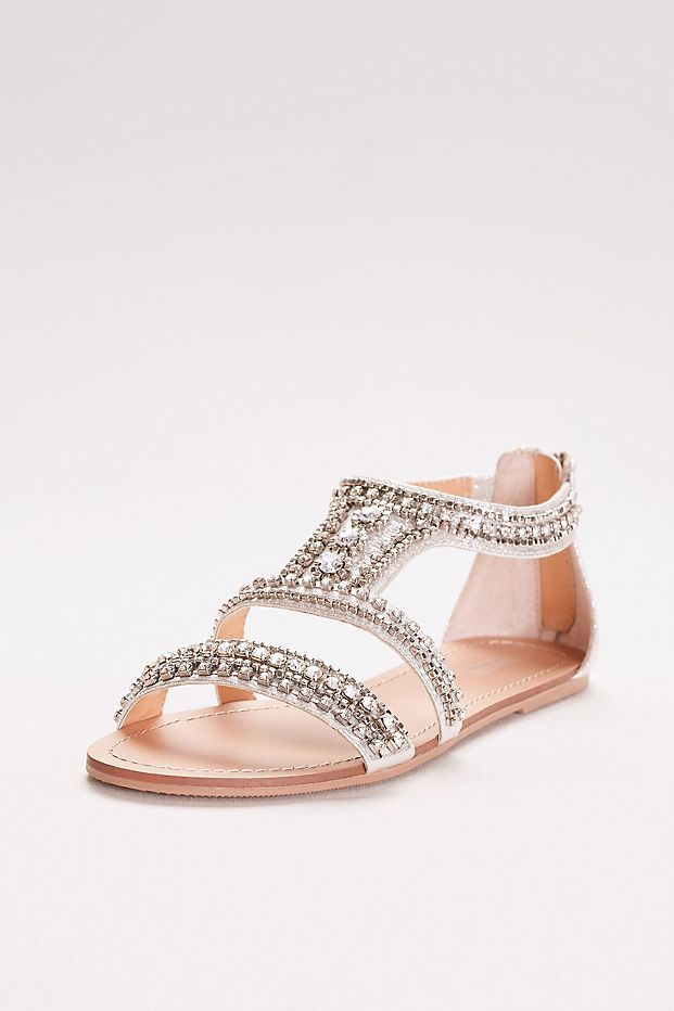 0791275fef0 Gem-Encrusted Flat Sandals