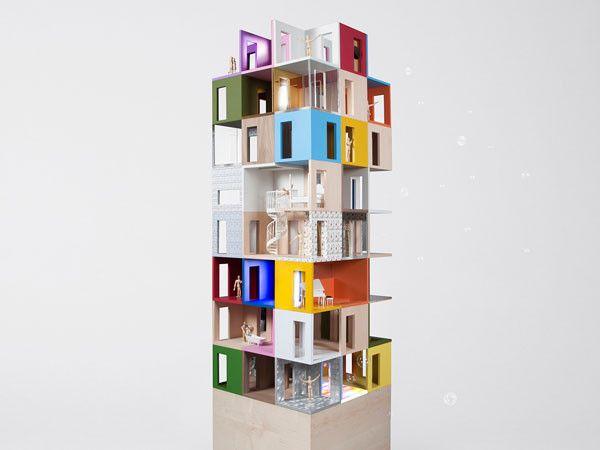 14 a dolls house famous architects design dollhouses, charity auction, wielcy architekci projektuja dla dzieci, domki dla lalek, aukcja charytatywna, mala architektura, Lifschutz Davidson Sandilands