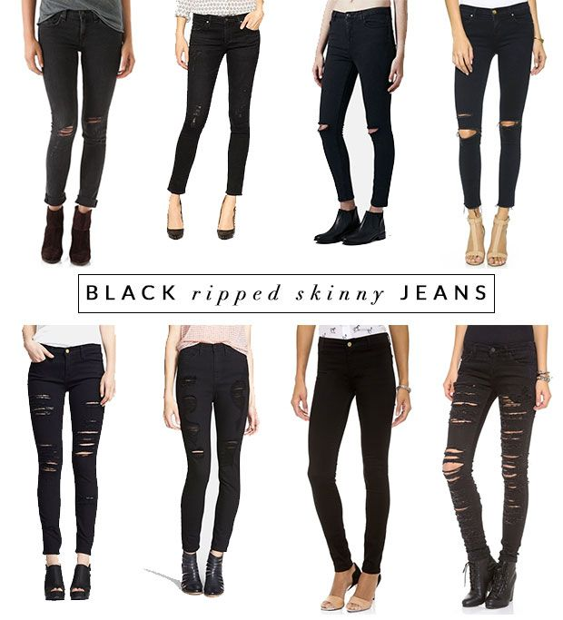 Black Ripped Skinny Jeans | @viewfrom5ft2 #theviewfrom5ft2