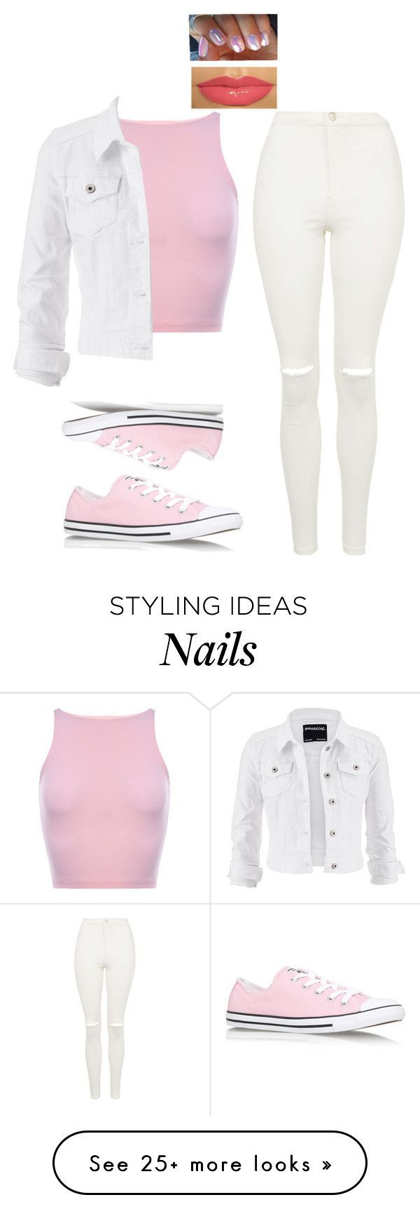 Geek in pink by be-u-tiful101 on Polyvore featuring maurices, Topshop and Converse