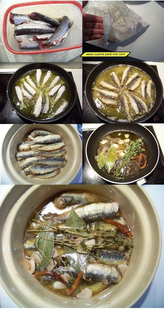 Recette sardines à l'escabêche