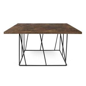 Konferenční stolek Helix 75 cm, hnědá deska + černá podnož