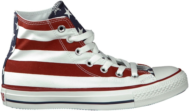 Rode Converse sneakers AS HI DAMES