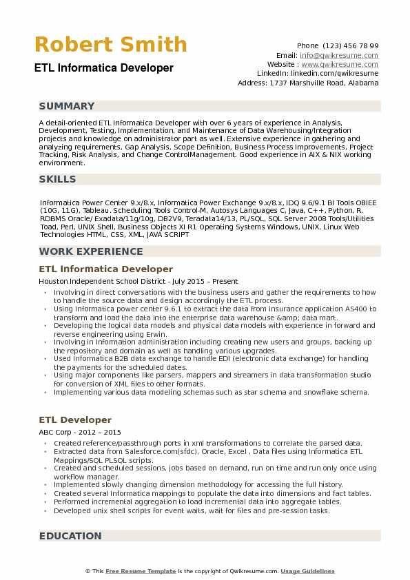 Informatica Resume Louiesportsmouth Com Resume Template Examples Professional Resume Writers Sample Resume Templates