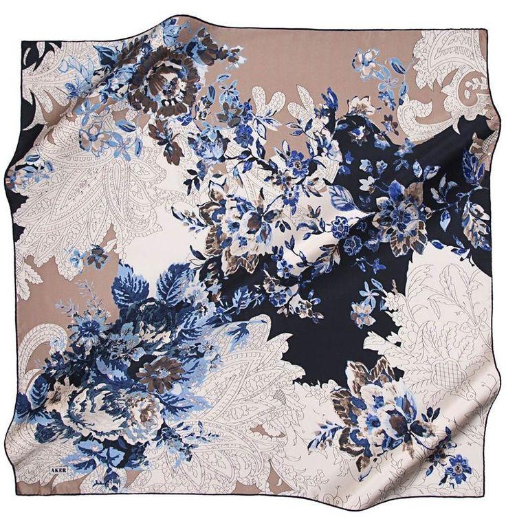 Aker Pure Silk Turkish Hijab Scarf 100 x 100cm #6707 321