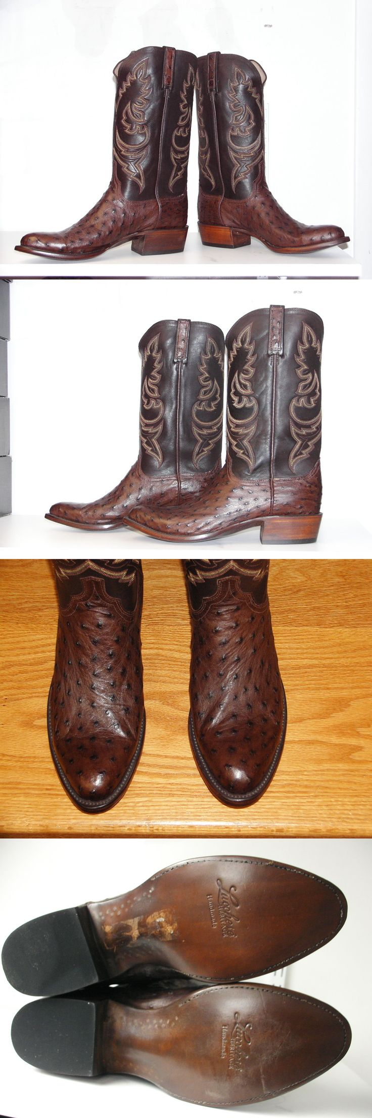 Western Boots 159002: New Lucchese Heritage Men Quill Ostrich Choc Cowboy Boot Hl1000.63 Size 10 1 2 D -> BUY IT NOW ONLY: $399.95 on eBay!