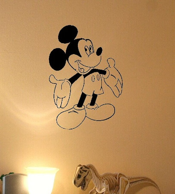 Mickey Mouse Wall Decal by BigDDesign on Etsy, $8.00