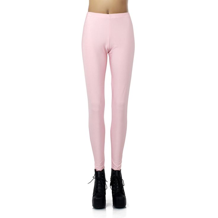 New Arrival 1373 Sexy Girl leggins Light Pink Rose solid colour Printed Polyester Elastic Fitness Workout Women Leggings Pants #Affiliate