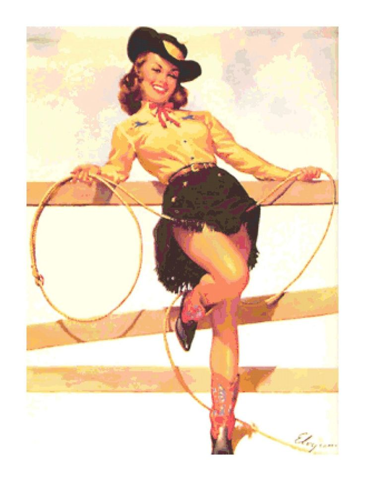 Vintage Cowgirl Pin Up