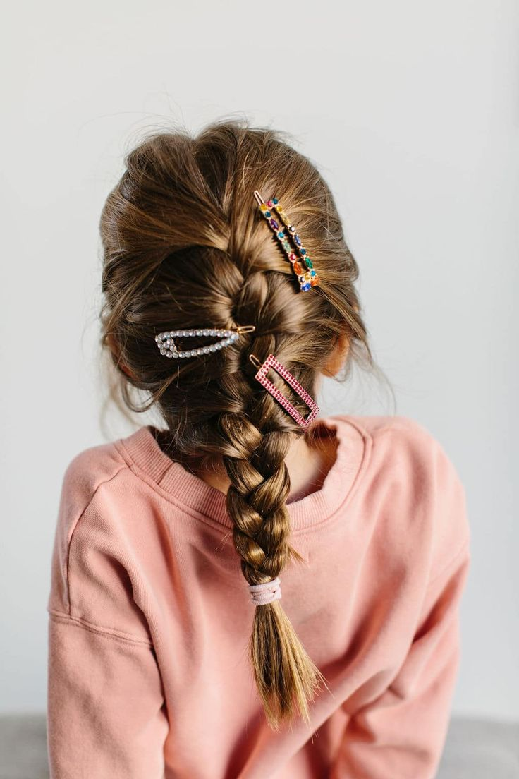 How to french braid kids hair tutorial step by step, plus