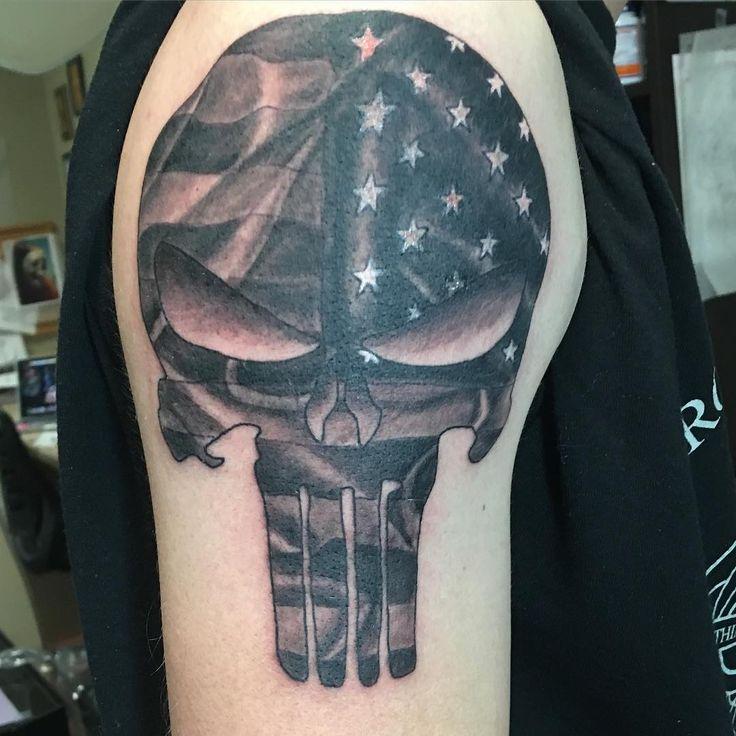 Image result for punisher skull tattoo