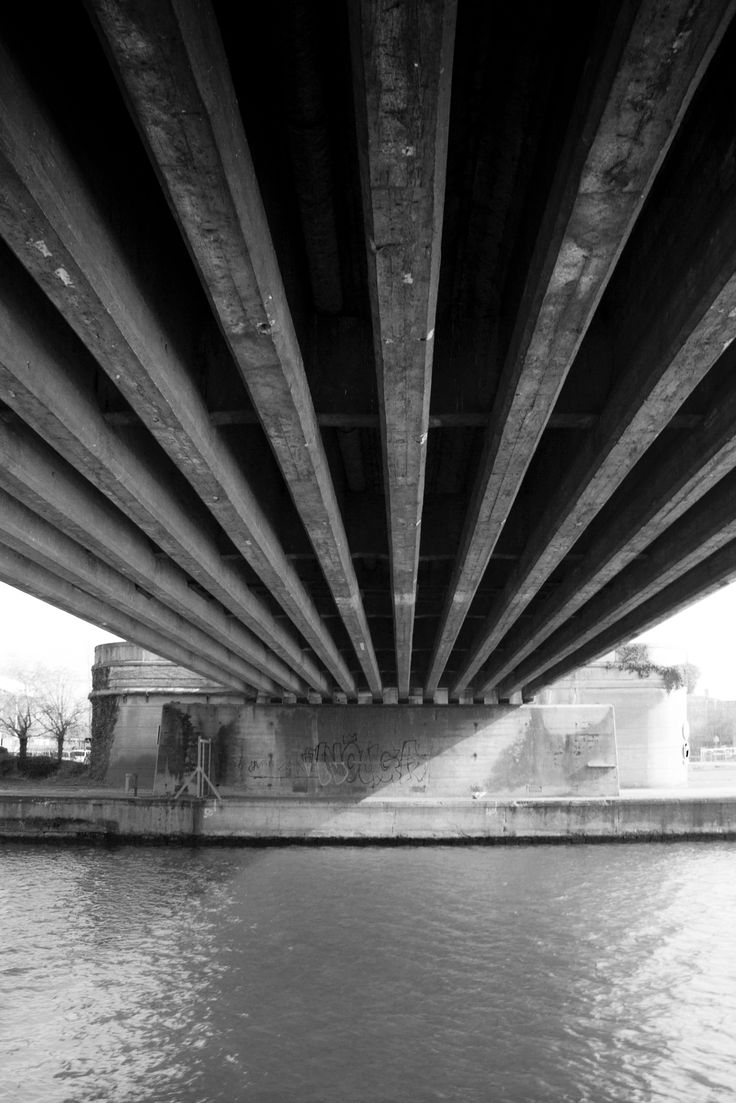 The light under the bridge - The image shows the ambiance under a bridge in Lille, France