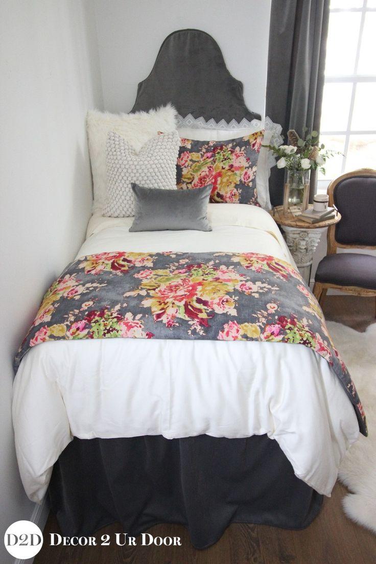 Velvet Amp Multicolor Floral Designer Dorm Bedding Set College Life Dorm Bedding Sets Dorm