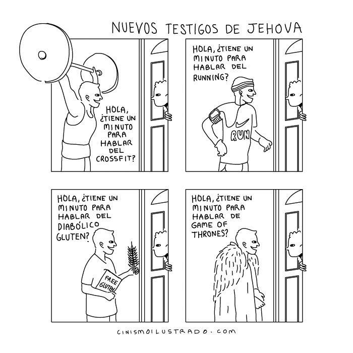 Nuevos testigos de Jehová. #humor #risa #graciosas #chistosas #divertidas