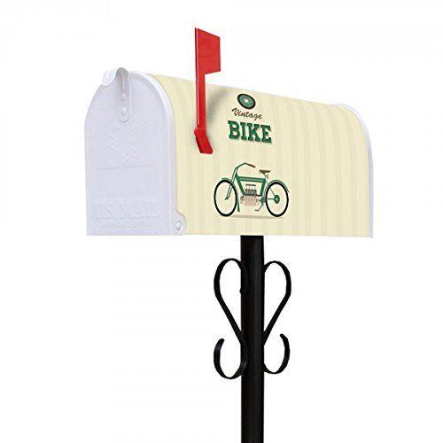 banjado - US Mailbox 16x22x48cm amerikanischer Briefkasten mit schwarz lackiertem Ständer und Motiv Vintage Bike banjado http://www.amazon.de/dp/B01ATBCHAK/ref=cm_sw_r_pi_dp_ccXZwb0WJM3WT
