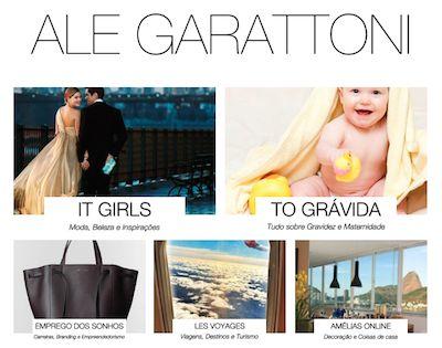 Maternidade, empreendedorismo, branding e lifestyle em posts assinados pela administradora e jornalista Alessandra Garattoni