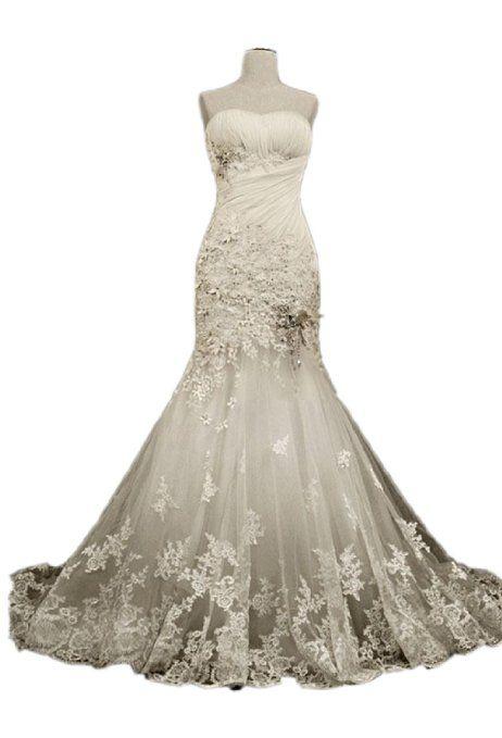 Fabulous Floor-length Sweetheart Chapel Trumpet/mermaid Wedding Dress