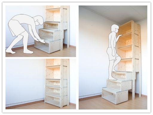 Commentaire Construire Efficace stockage escalier Étape de DIY par des instructions Étape tutoriel 512x384 Commentaire Construire Efficace stockage ...