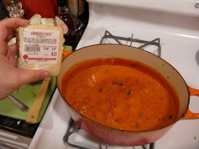 Michael Symon's sriracha blue cheese tomato soup? My interest is ...