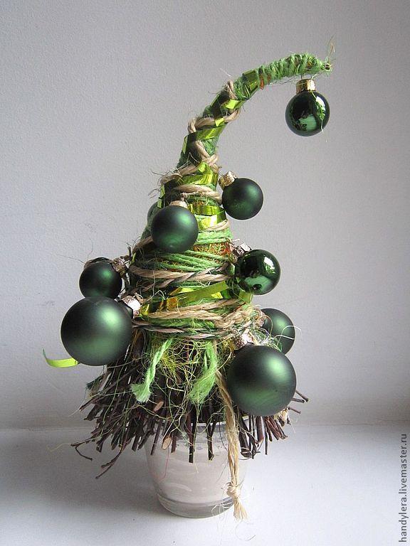 """Купить """"Чистый изумруд"""" - зелёный, изумрудный, новогодняя елка, новогодний подарок, новогодний сувенир, джут"""