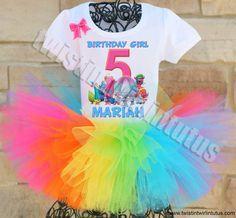 Trolls Birthday Party Ideas   Trolls Birthday Tutu Outfit   Trolls Birthday Shirt   Trolls Party Ideas   Birthday Party Ideas for Girls   Twistin Twirlin Tutus #birthdaypartyideas #trollsbirthday  http://www.twistintwirlintutus.com/products/trolls-birthday-outfit-2