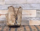 Vintage Bell System Tool Bag, Lineman Tool Bag, Canvas and Leather Tool Bag