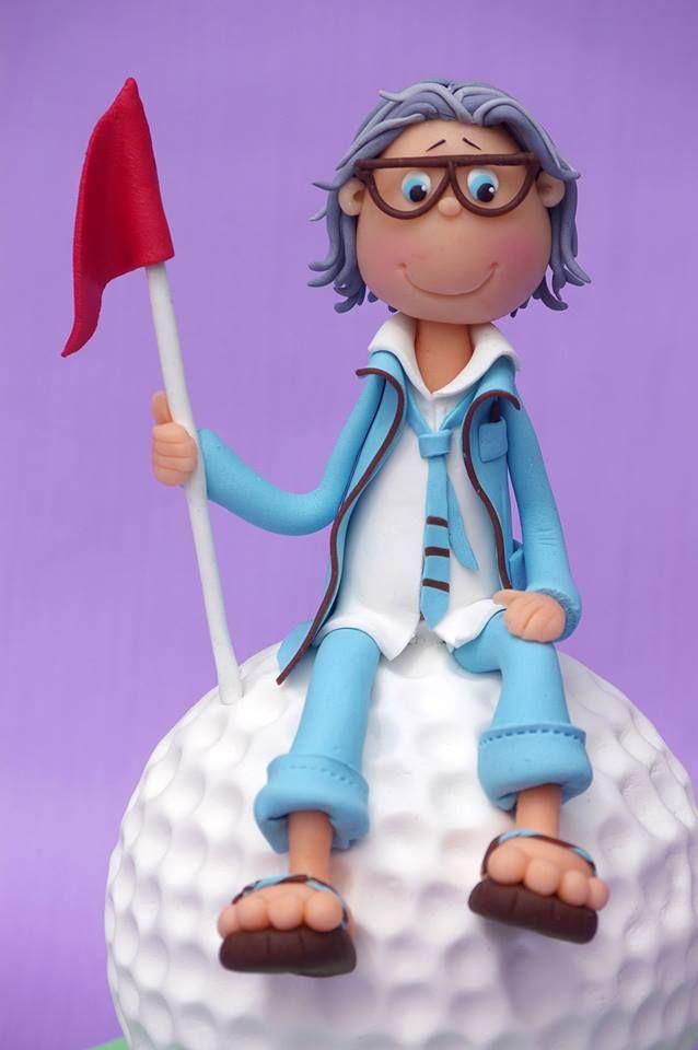 Golf cake Topper.