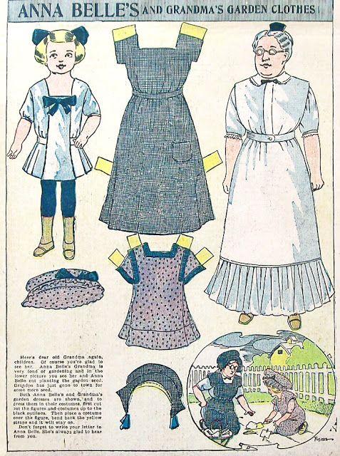 Newspaper doll Anna Belle, 1910 - papercat - Picasa-Webalben