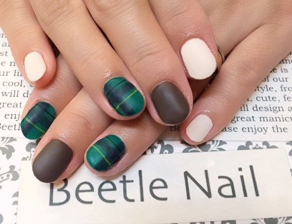 Nail Art - Beetle Nail : 2016年01月  #ブラックウォッチ #Beetlenail #Beetle近江八幡 #ビートルネイル #ビートル近江八幡