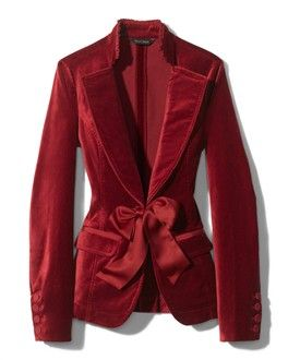 I am in <3 with this for the holidays - Ruby velvet jacket (White House Black Market)