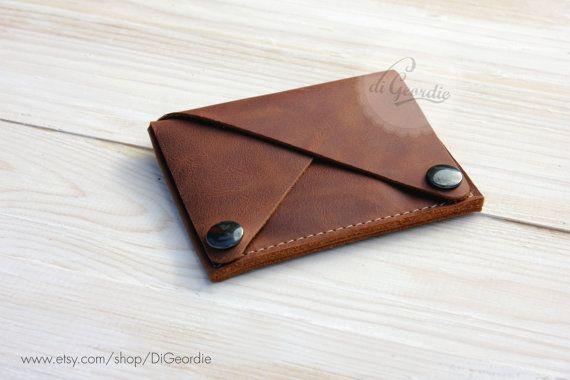 Leather wallet woman coin pocket wallet slim wallet by DiGeordie