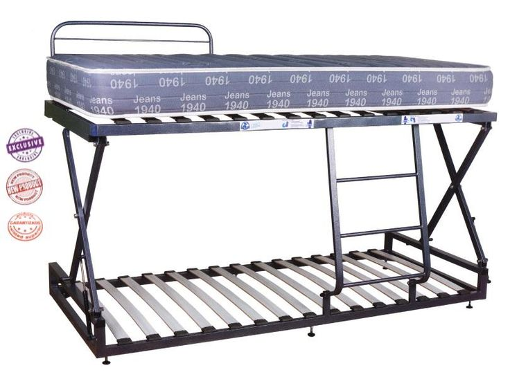 Convierte una cama en litera, en un momento y sin esfuerzo. Sistema hidráulico de elevación con doble seguridad. Garantizada hasta 150 Kgs de carga.