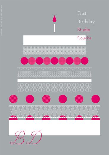 スタジオ クーシュ 一周年記念ポスター   daily coton