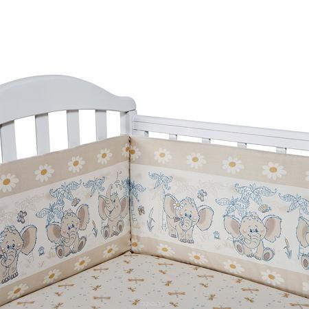 Baby Nice Бортик для кровати Слоненок цвет бежевый  — 1785р. --- Борт в кроватку (его ещё называют бампер) является отличной защитой малыша от сквозняков и ударов при поворотах в кроватке. Ткань верха: 100% хлопок, наполнитель: экологически чистый нетканый материал для мягкой мебели — периотек. Дизайны бортов сочетаются с дизайнами постельного белья, так что, можно самостоятельно сделать полный комплект, идеальный для сна. Борта в кроватку — мягкие удобные долговечные: надежная и эстетичная…