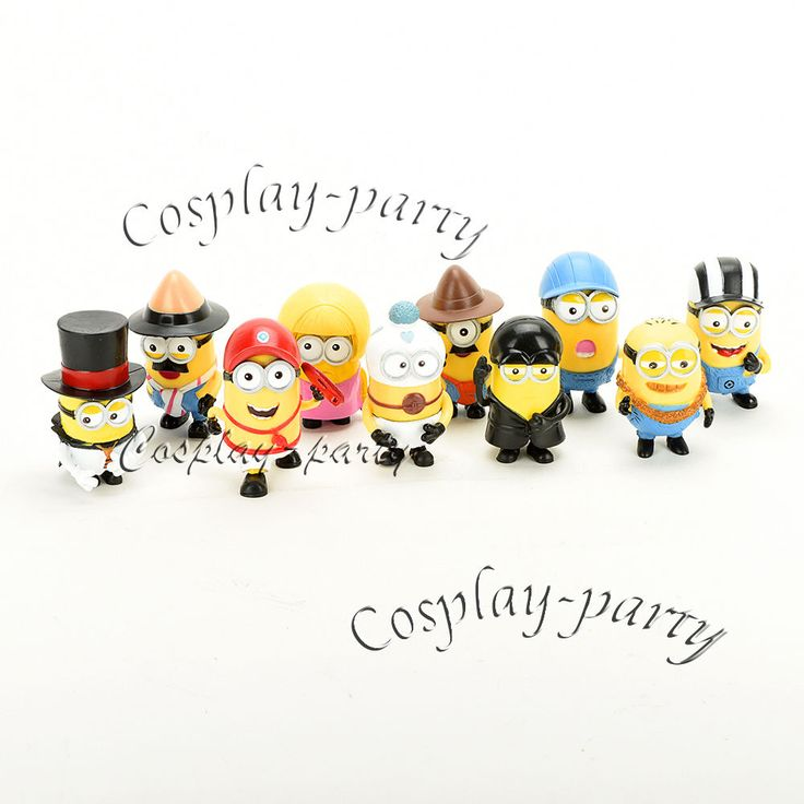 Despicable Me 2 Minions Movie Character Figures Cute Toys Doll Cup Cake 10 pcs #Unbranded