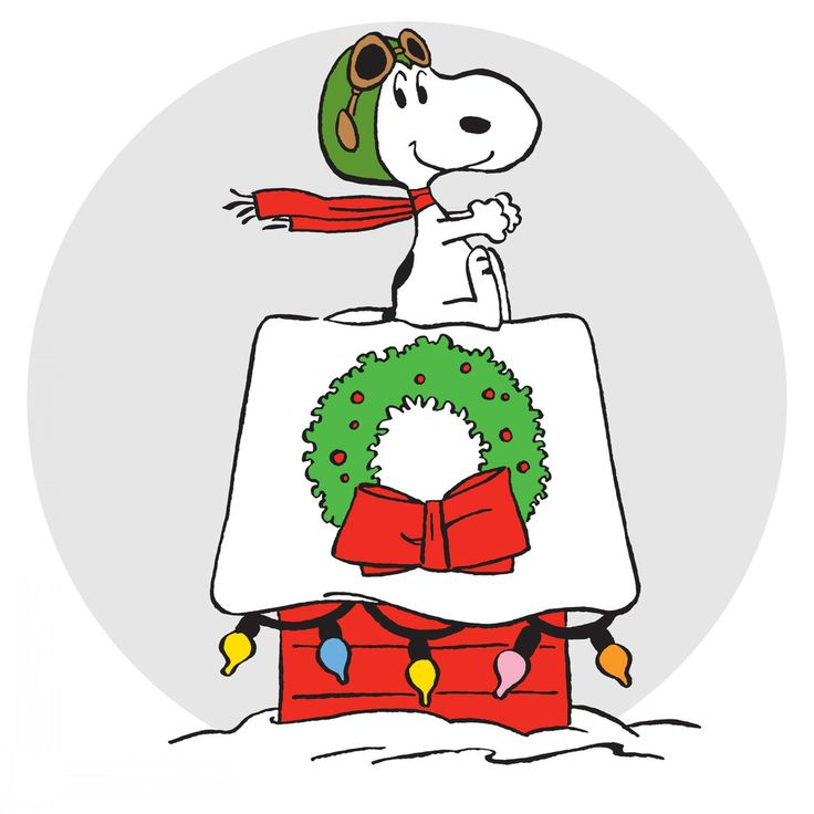 Description: Snoopy, dressed as an aviator, rides his doghouse that's been decorated for Christmas. His scarf blows in the wind in this Christmas themed Snoopy art. - Peanuts wall art featuring Snoopy