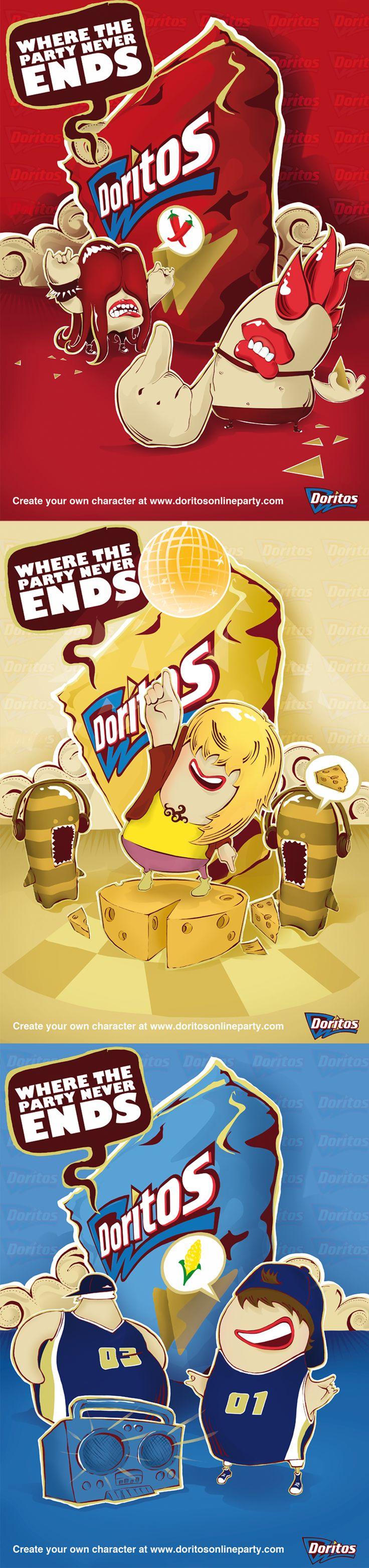 "Come check out ""Doritos"" Illustration advertisement by Emblem - illustration by Jeffrey Furlong"