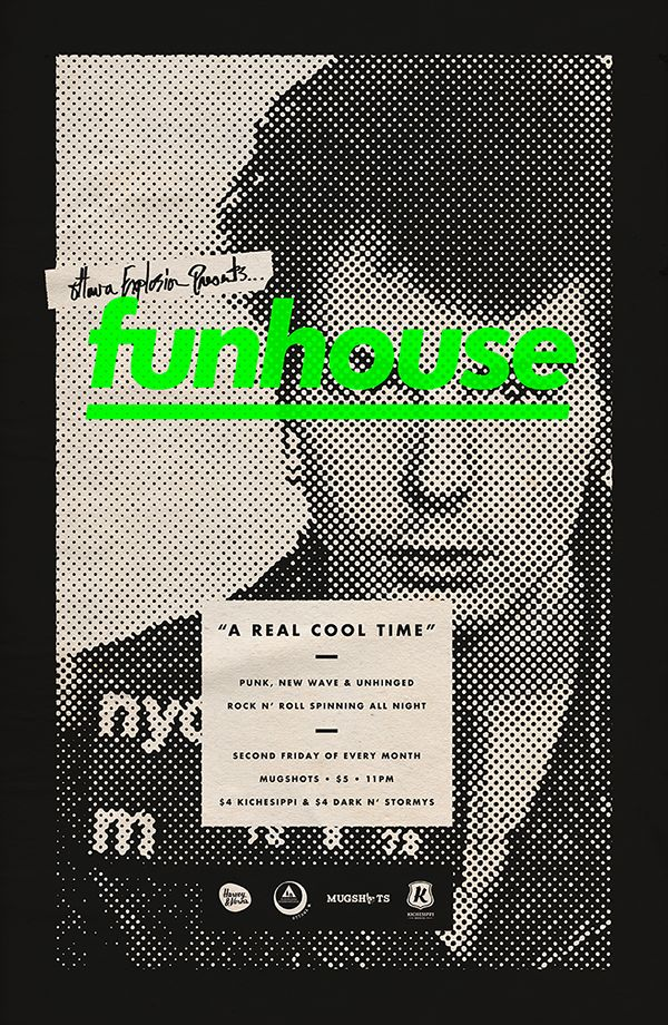 FUNHOUSE is a bi-monthly DJ night at a venue called Mugshots.Spinning Punk, New-Wave and Garage. The bar is located in the historic Ottawa Jail Hostel.