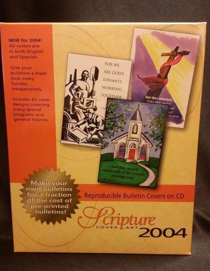 Scripture Cover Art 2004 PC CD-ROM Bulletin Covers Christian Graphics Customize #CommunicationResourcesInc